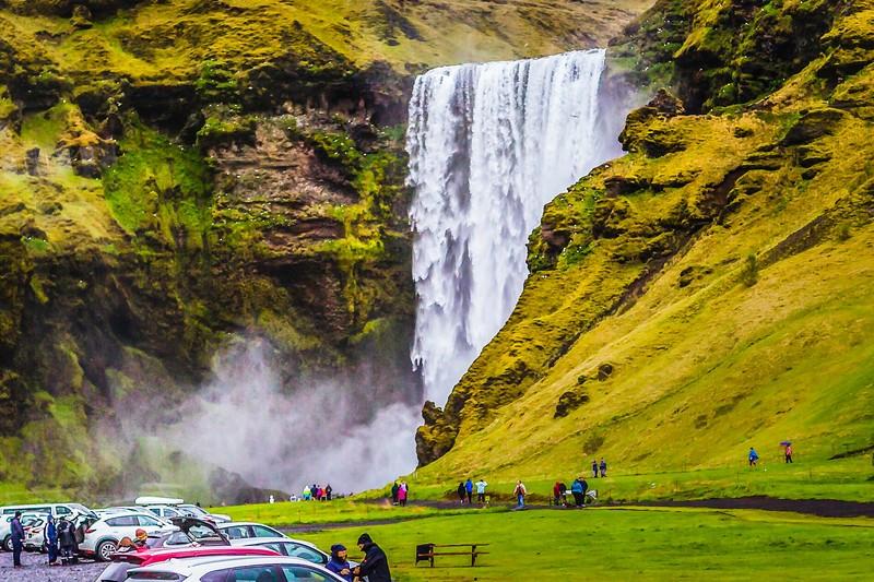 冰岛Skógafoss瀑布,飞流直下_图1-9