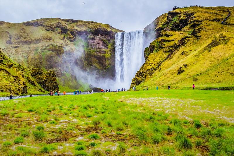 冰岛Skógafoss瀑布,飞流直下_图1-7