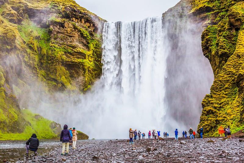 冰岛Skógafoss瀑布,飞流直下_图1-10