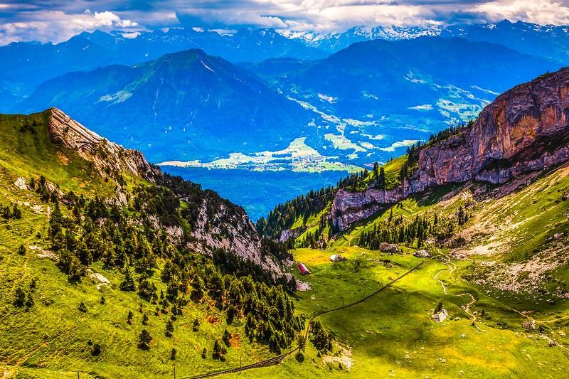 瑞士卢塞恩(Lucerne),登山瞭望_图1-30