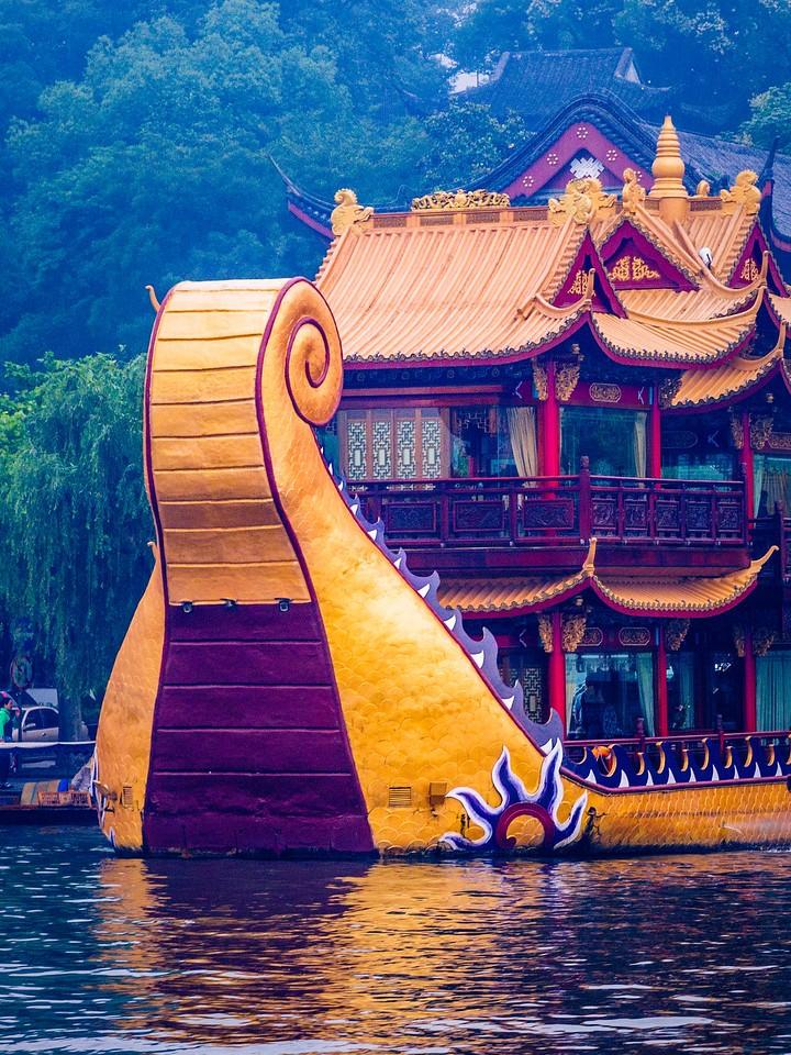 杭州西湖,宝塔小桥楼亭_图1-3