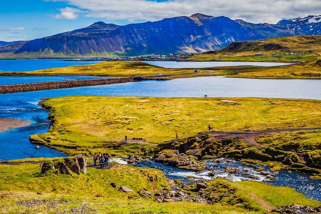 冰岛Kirkjufellsfoss,小瀑布小溪水_图1-5