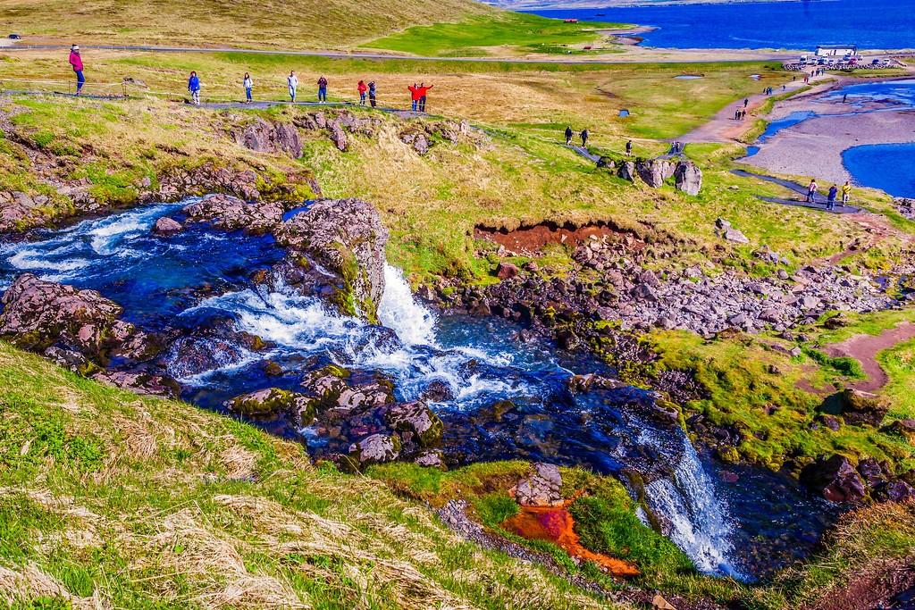 冰岛Kirkjufellsfoss,小瀑布小溪水_图1-7