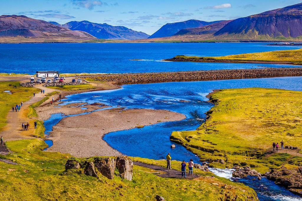 冰岛Kirkjufellsfoss,小瀑布小溪水_图1-4