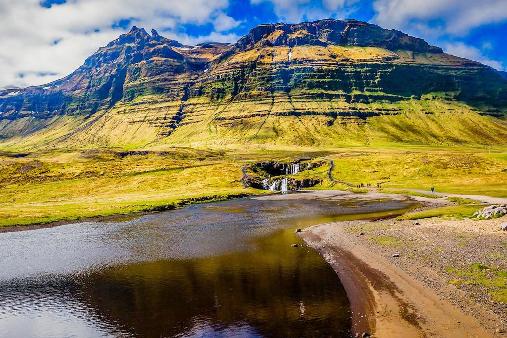 冰岛Kirkjufellsfoss,小瀑布小溪水_图1-11