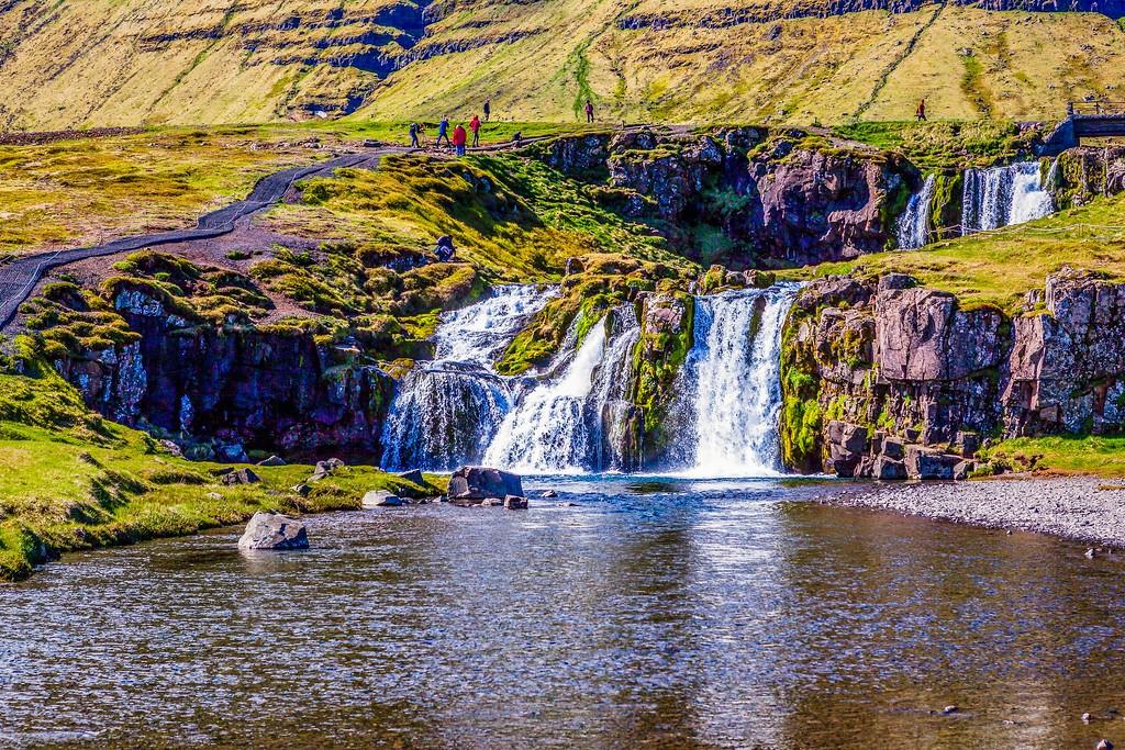 冰岛Kirkjufellsfoss,小瀑布小溪水_图1-18