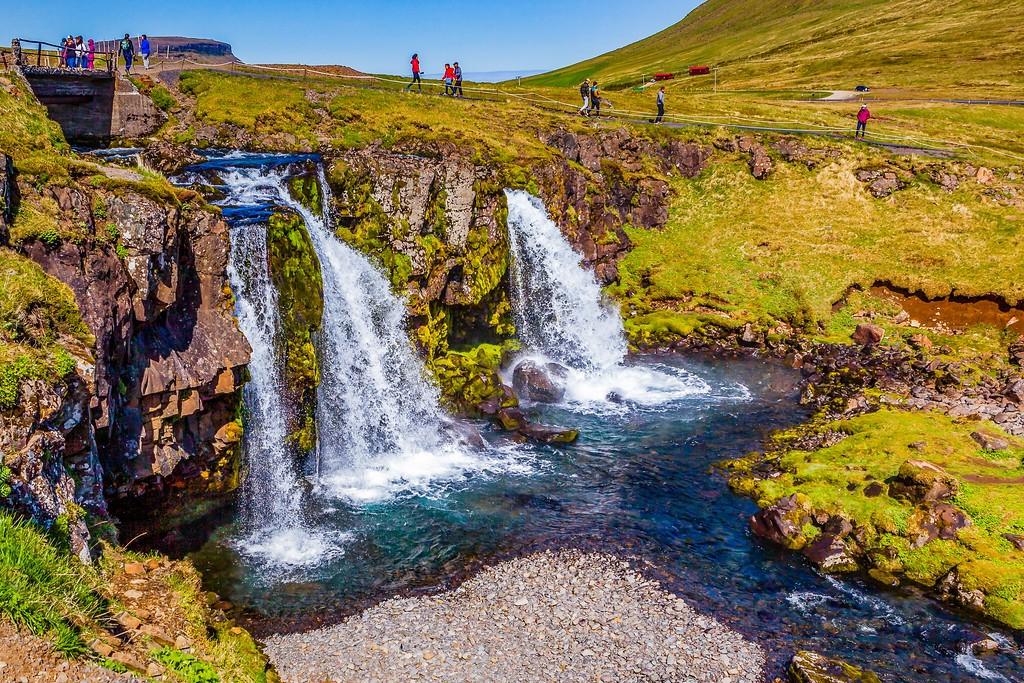 冰岛Kirkjufellsfoss,小瀑布小溪水_图1-23