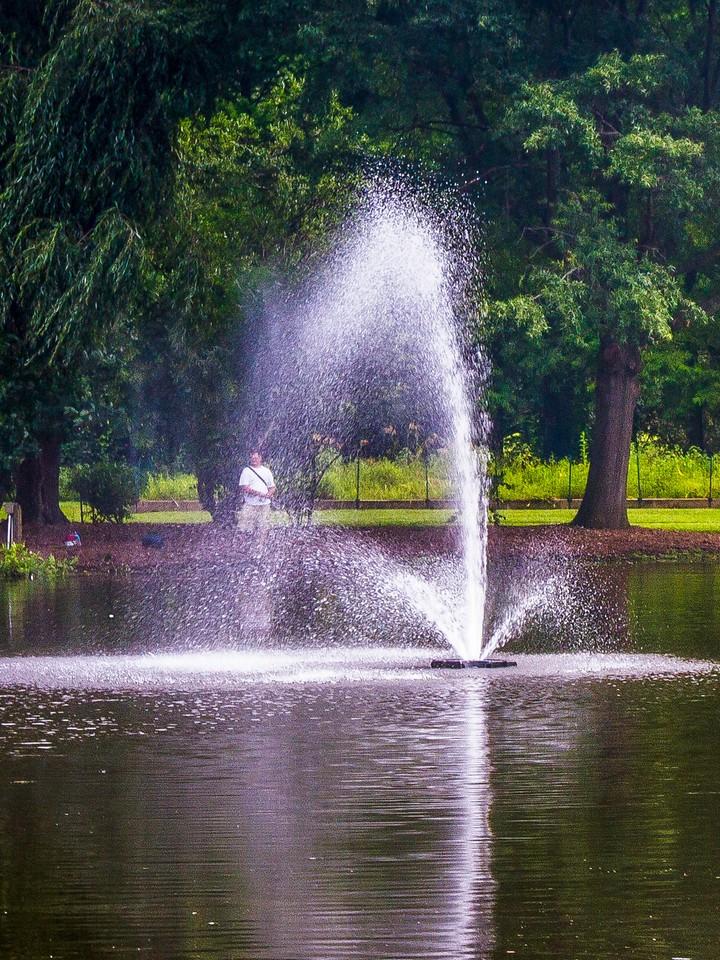 滨州Willows park,湖中喷泉_图1-8