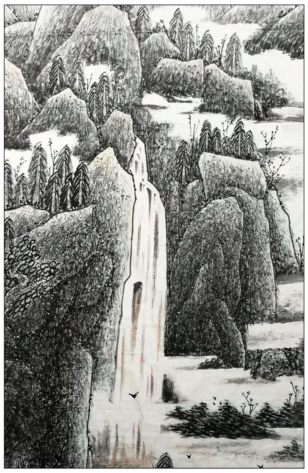 庆祝中国共产党成立100周年---牛志高山水画【220CMX150CM】2021.03.31 ..._图1-12