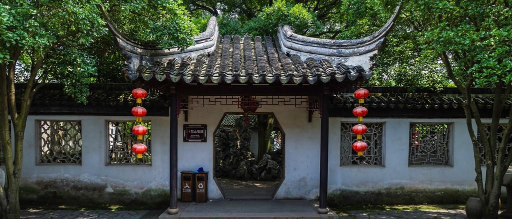 中国江苏同里,庭院美景_图1-2