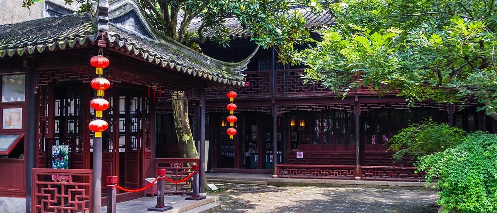 中国江苏同里,庭院美景_图1-3