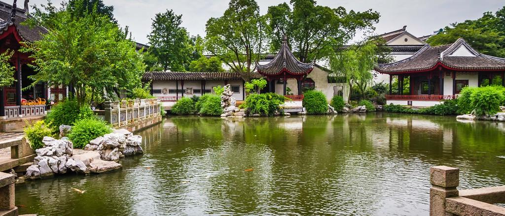 中国江苏同里,庭院美景_图1-5
