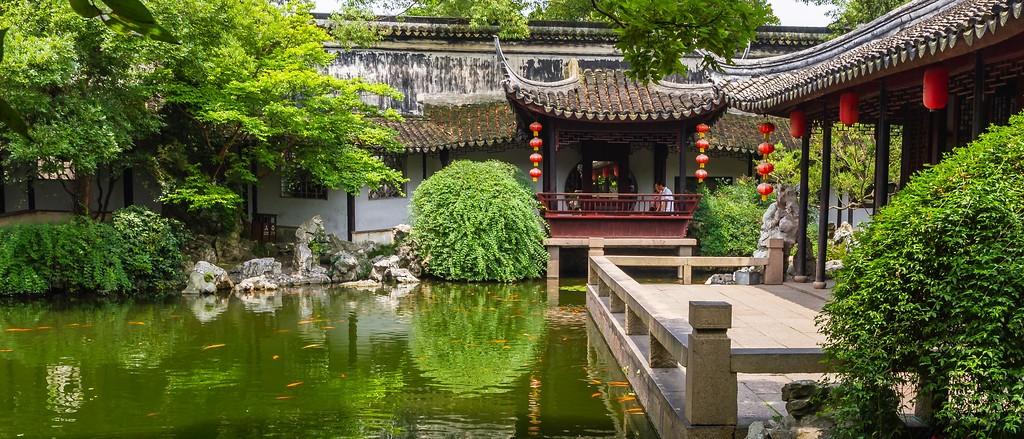 中国江苏同里,庭院美景_图1-6