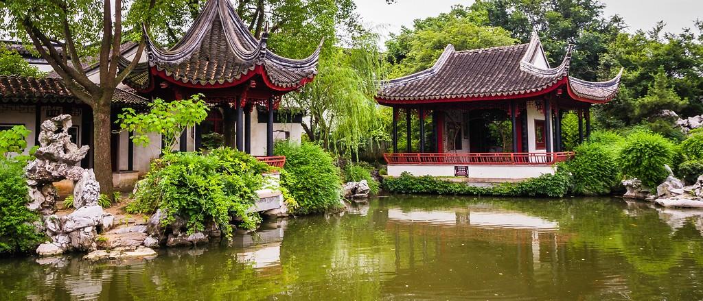 中国江苏同里,庭院美景_图1-1