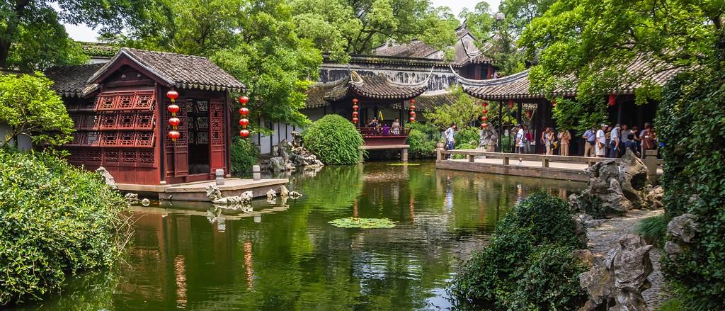 中国江苏同里,庭院美景_图1-16