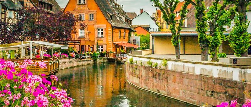 法国科尔马(Colmar),桥上看景_图1-12