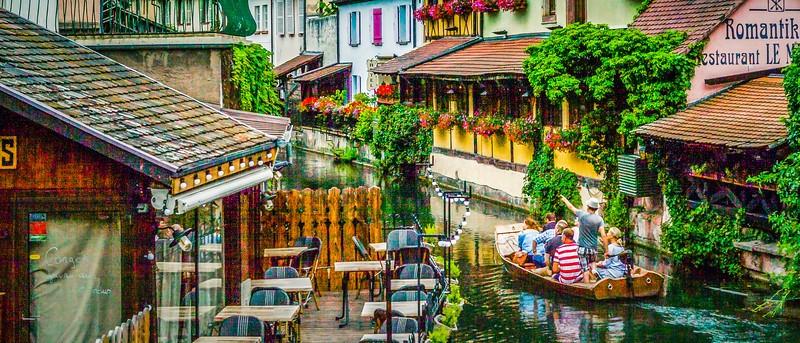 法国科尔马(Colmar),桥上看景_图1-3