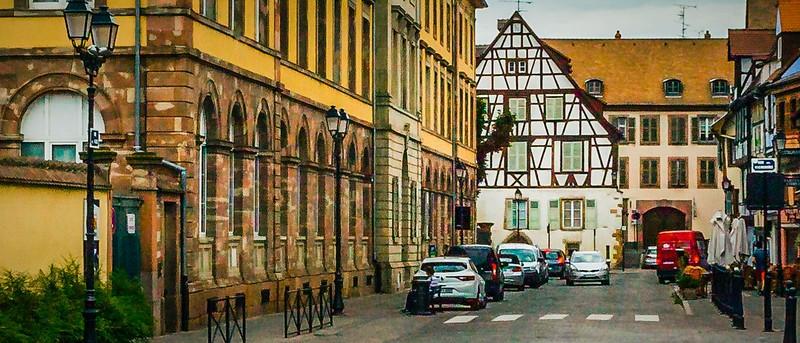 法国科尔马(Colmar),桥上看景_图1-9