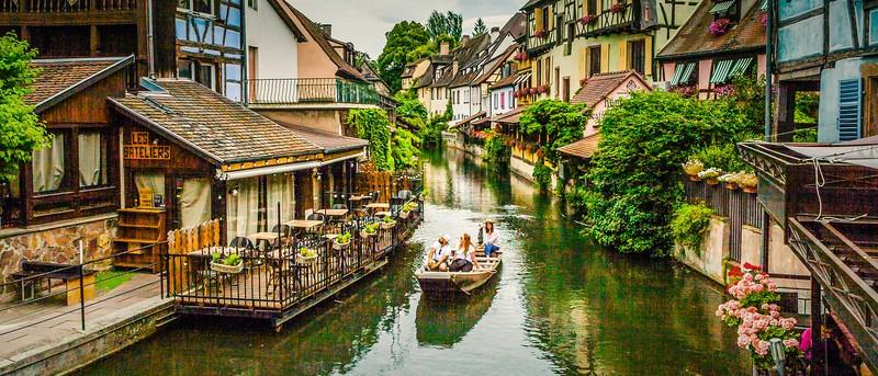 法国科尔马(Colmar),桥上看景_图1-1