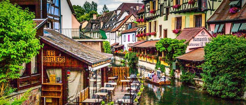 法国科尔马(Colmar),桥上看景_图1-8