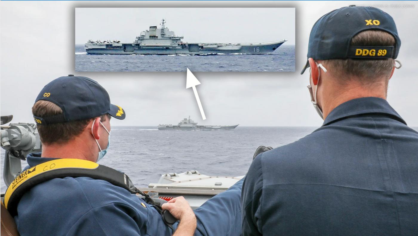 中、美两国航母在中国南海同时出现_图1-1