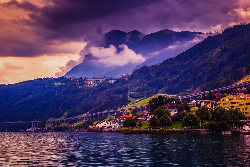 瑞士卢塞恩(Lucerne),雨后夕阳_图1-23