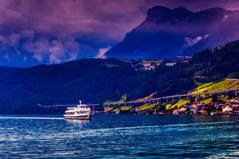 瑞士卢塞恩(Lucerne),雨后夕阳_图1-22