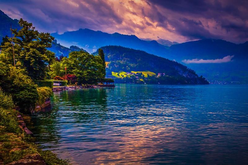 瑞士卢塞恩(Lucerne),雨后夕阳_图1-21