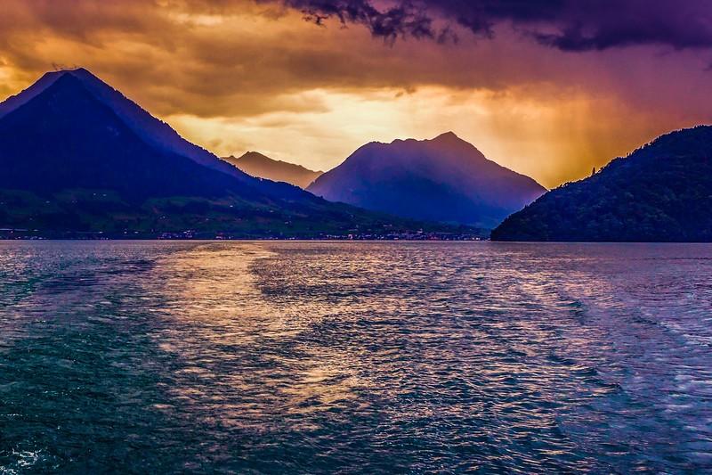 瑞士卢塞恩(Lucerne),雨后夕阳_图1-20
