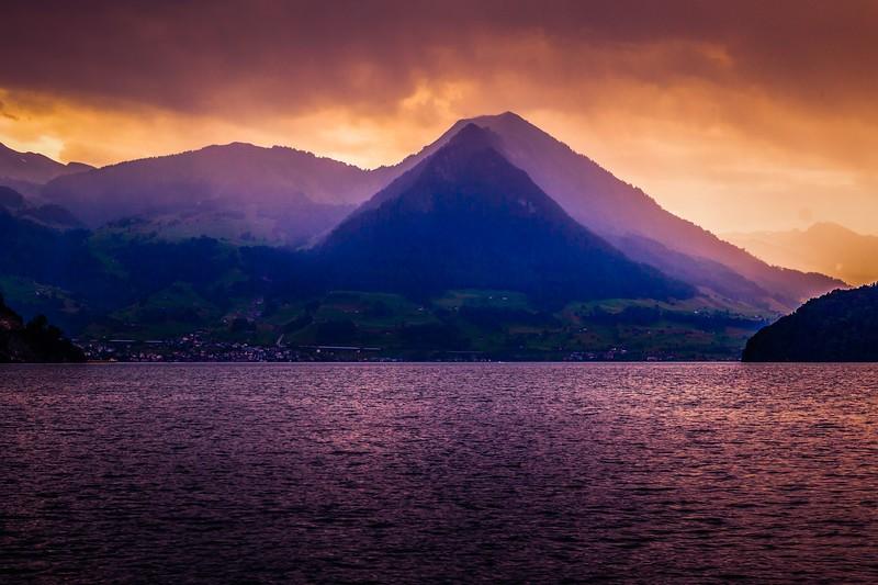 瑞士卢塞恩(Lucerne),雨后夕阳_图1-15