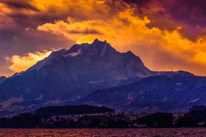 瑞士卢塞恩(Lucerne),雨后夕阳_图1-17
