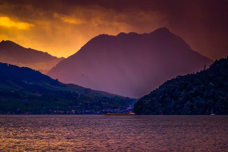 瑞士卢塞恩(Lucerne),雨后夕阳_图1-18