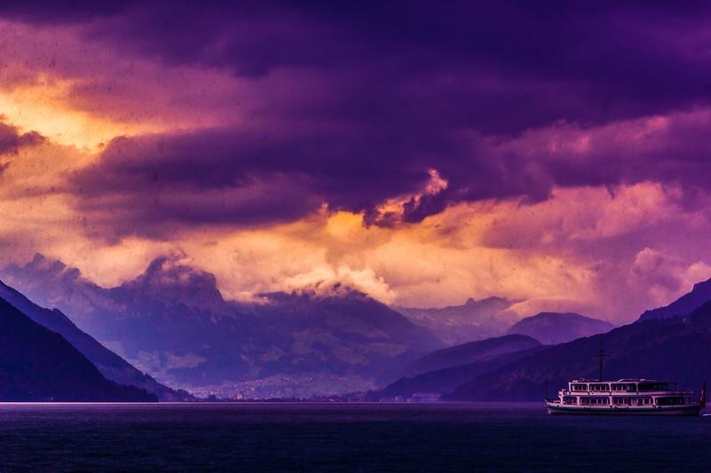 瑞士卢塞恩(Lucerne),雨后夕阳_图1-11