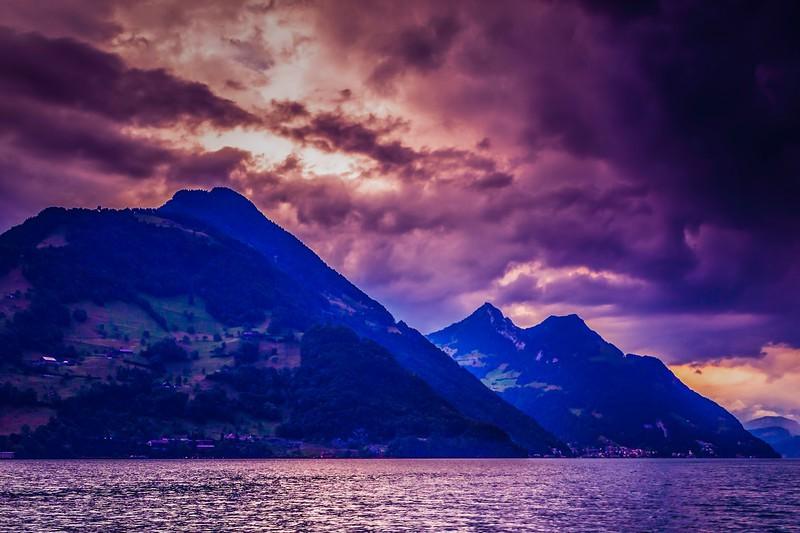 瑞士卢塞恩(Lucerne),雨后夕阳_图1-10