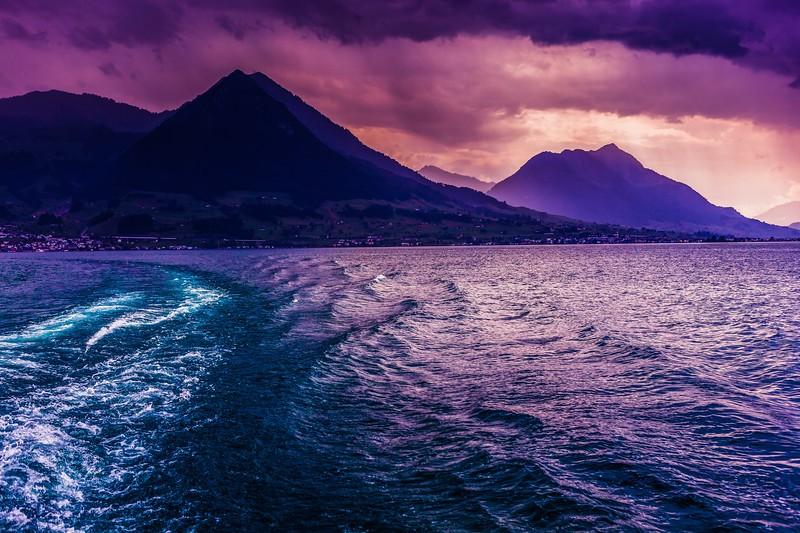 瑞士卢塞恩(Lucerne),雨后夕阳_图1-4