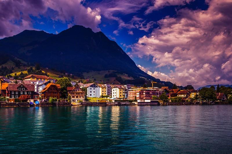 瑞士卢塞恩(Lucerne),雨后夕阳_图1-6