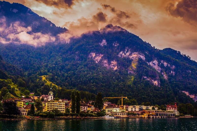 瑞士卢塞恩(Lucerne),雨后夕阳_图1-5