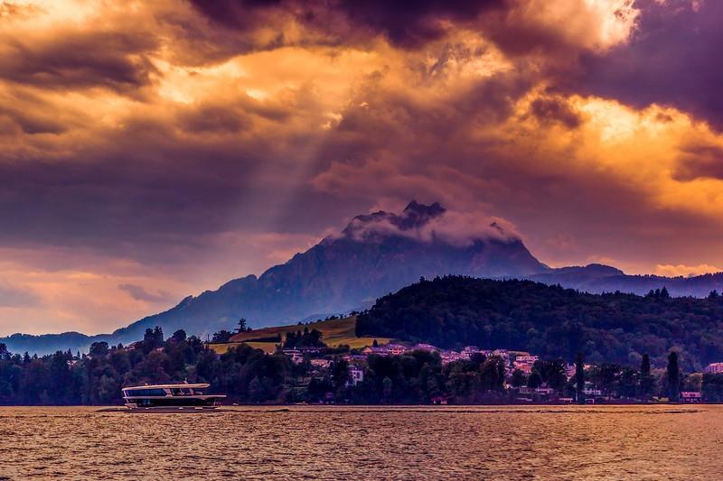 瑞士卢塞恩(Lucerne),雨后夕阳_图1-8