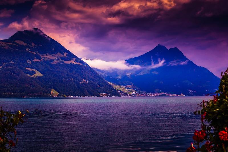 瑞士卢塞恩(Lucerne),雨后夕阳_图1-7