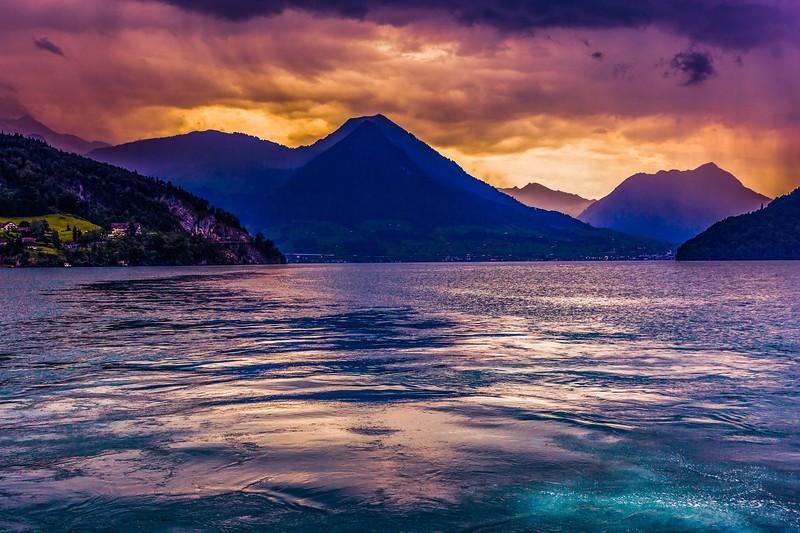 瑞士卢塞恩(Lucerne),雨后夕阳_图1-26