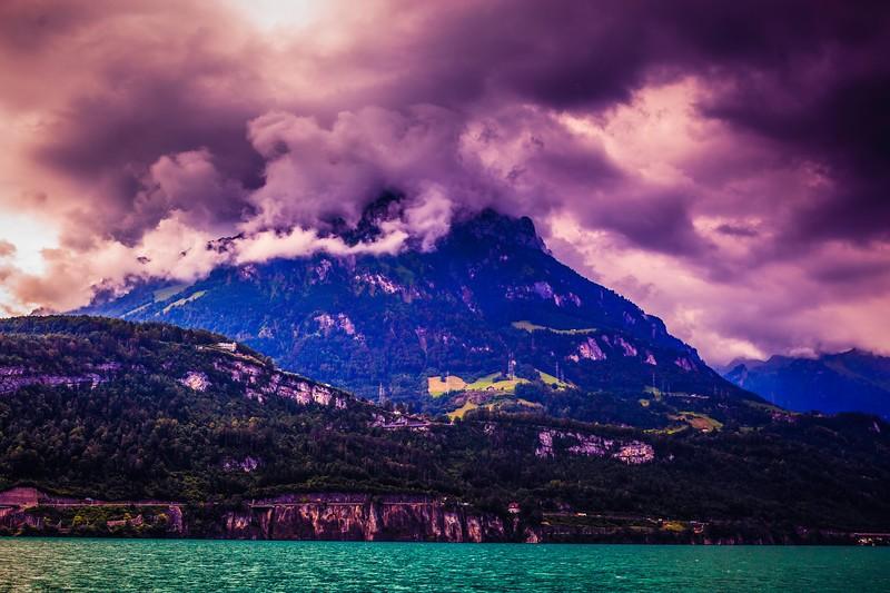 瑞士卢塞恩(Lucerne),雨后夕阳_图1-25