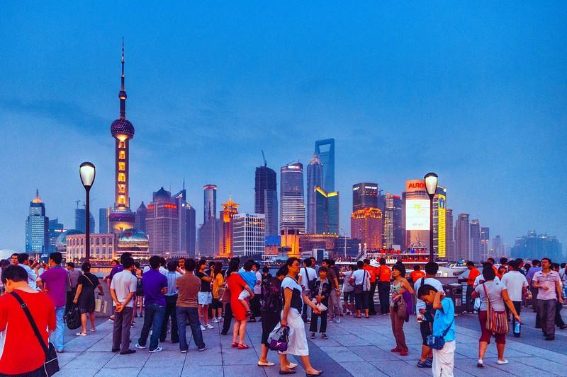 上海外滩,浪漫晚霞_图1-4