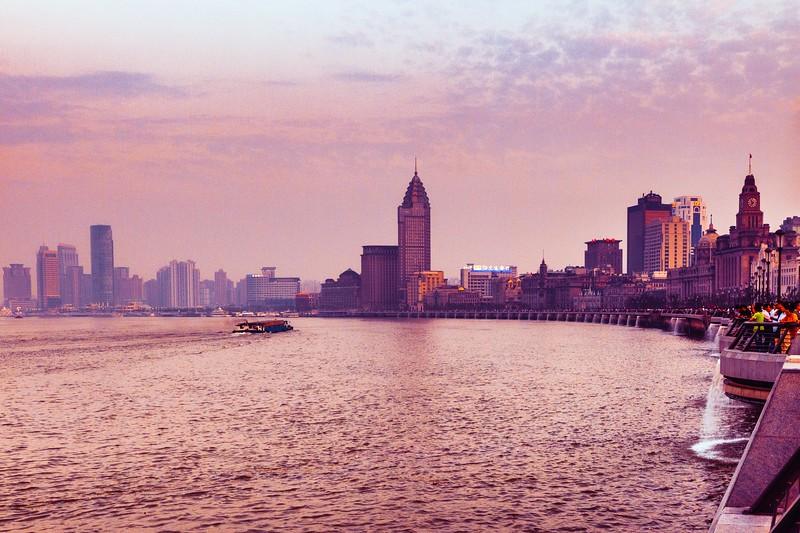 上海外滩,浪漫晚霞_图1-2