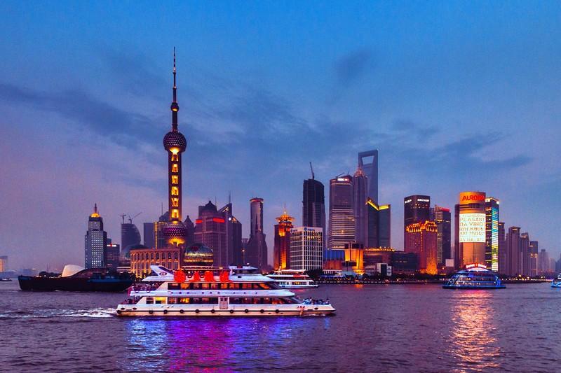 上海外滩,浪漫晚霞_图1-5