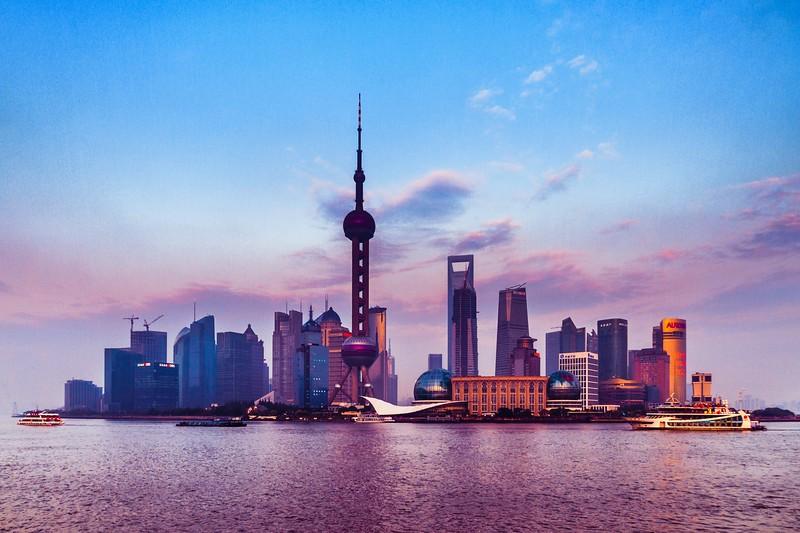 上海外滩,浪漫晚霞_图1-1