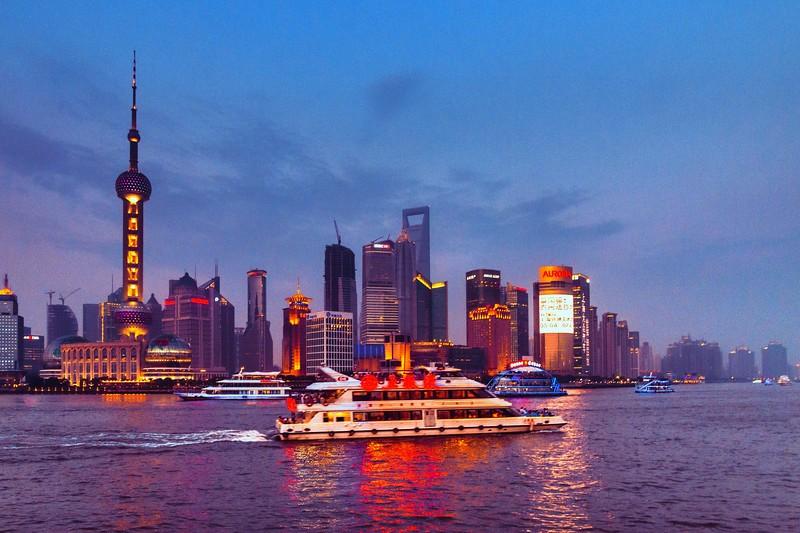 上海外滩,浪漫晚霞_图1-3