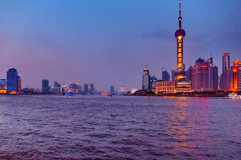 上海外滩,浪漫晚霞_图1-8
