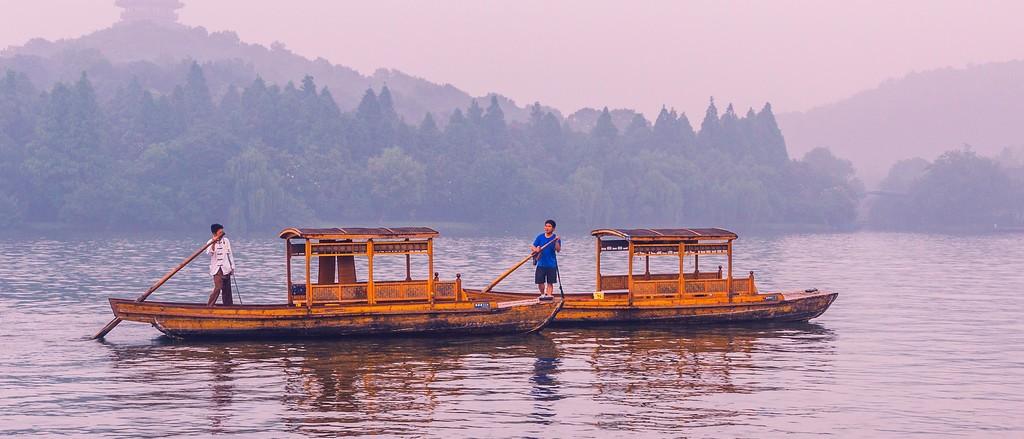 杭州西湖,朦胧景色_图1-2