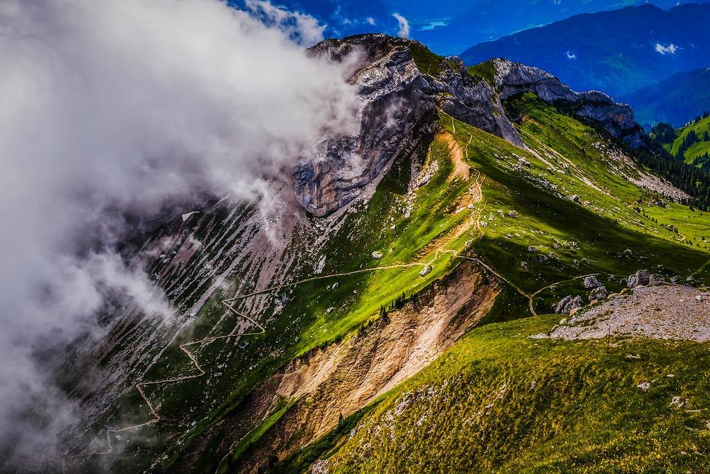 瑞士卢塞恩(Lucerne),山的语言_图1-8