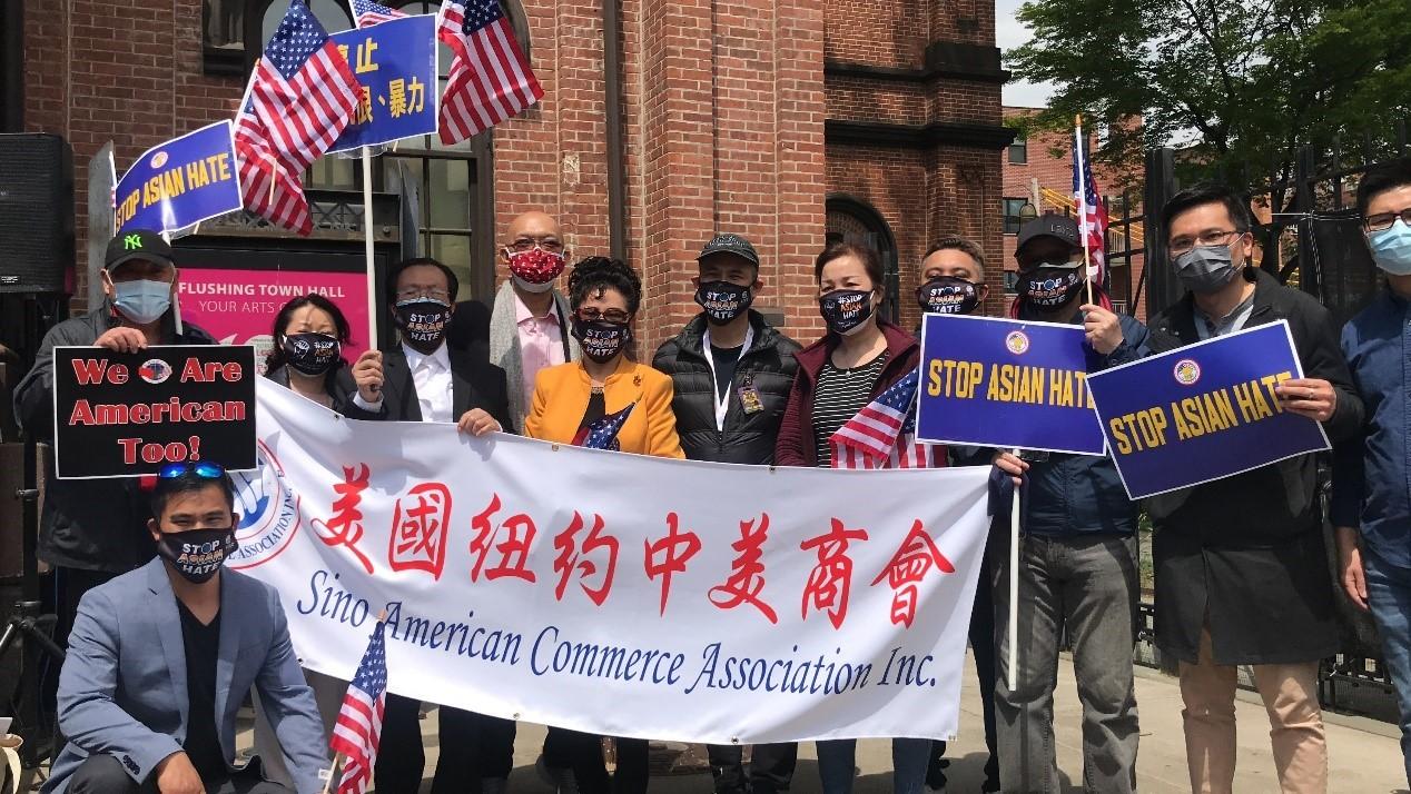 高娓娓:纽约法拉盛反对仇恨亚裔大游行现场实况_图1-6